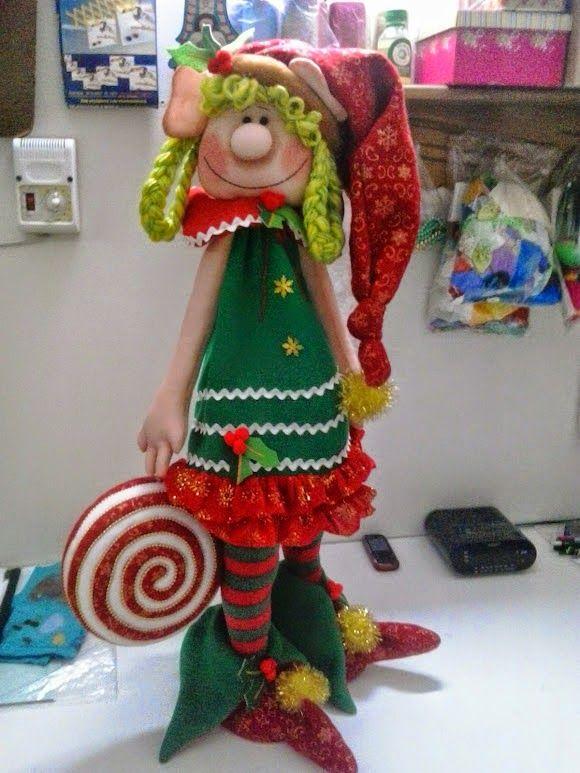 duendes de fieltro para navidad - Buscar con Google                                                                                                                                                      Más