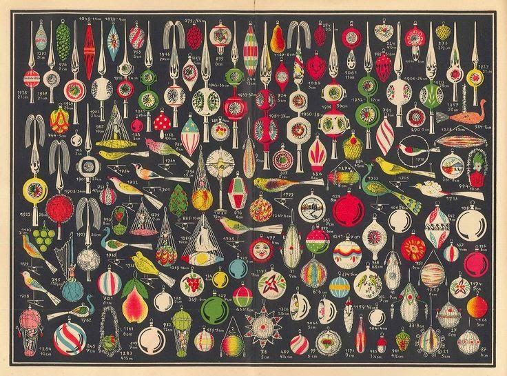 Miss Lindsay Lane: Christmas baubles 1930 - 1945