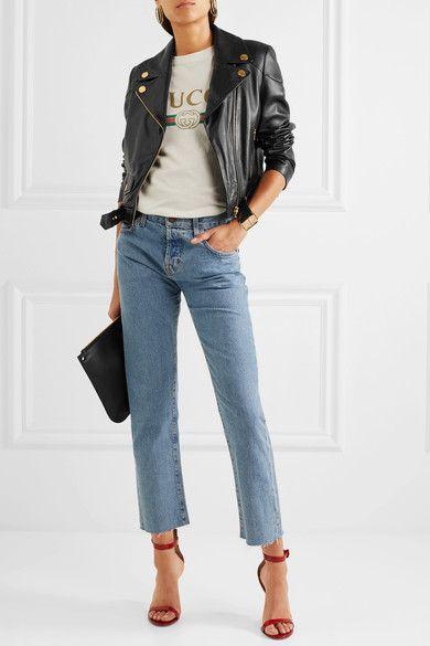 Boutique Moschino - Leather Biker Jacket - Black - IT48