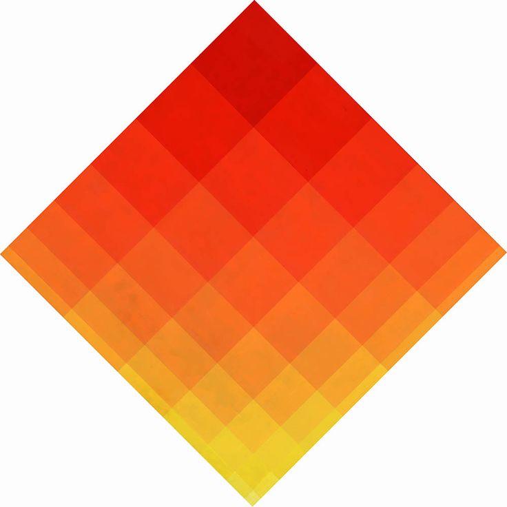 """MARIO BALLOCCO  """" Gradazioni modulari di chiarezze """", 1966 Olio su tavola, cm. 70 x 70 (lato)"""