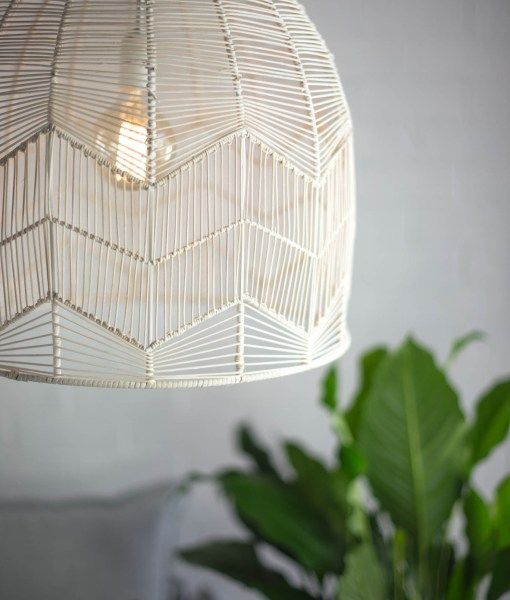 LACE RATTAN LIGHT – WHITE WASH | Six By Eight | Store