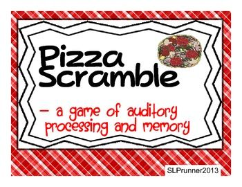 Pizza Scramble- A free Auditory Processing, Sequencing, game -  - Pinned by @PediaStaff – Please Visit  ht.ly/63sNt for all our pediatric therapy pins
