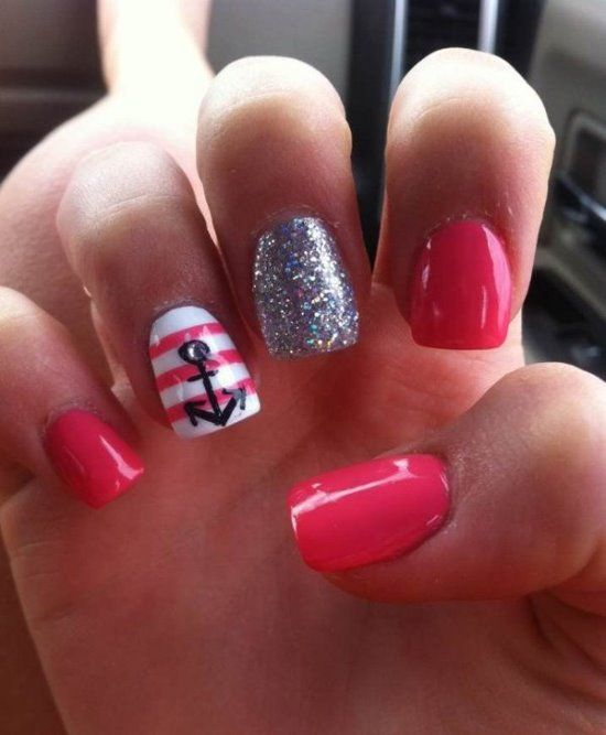 The 25 best nails with anchor design ideas on pinterest 50 rocking anchor nail art designs nail design ideaz prinsesfo Gallery