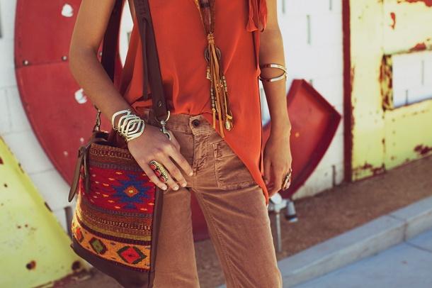 orange and jewelry