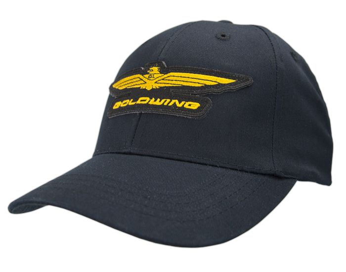 Goldwing logo hat black goldwing apparel pinterest for Hats and shirts with company logo