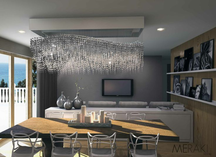 Gorgeous crystal chandelier in this scheme we designed for a residential project in Athens Greece. We chose the Kartell Masters as dining chairs and other bespoke Interior Design details...
