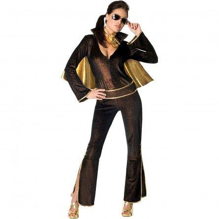 Womens Black Elvis Costume