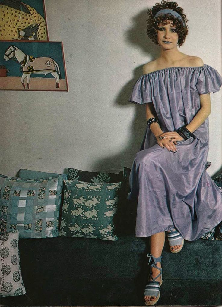 robe, patron gratuit, 100 idées magazine, revue 70's