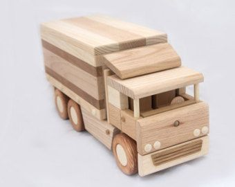 Wooden truck tipper by DesLineToys on Etsy
