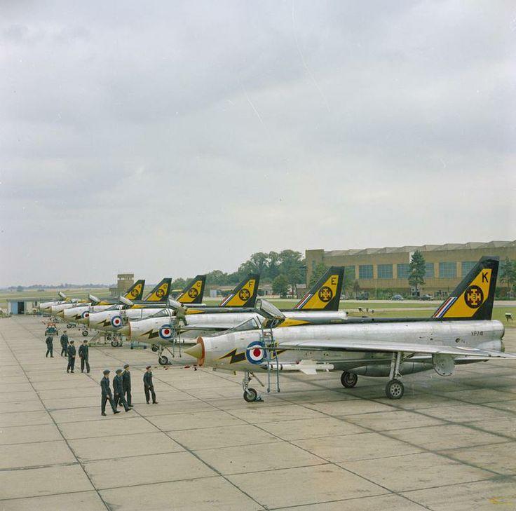 """English Electric Lightning F2A 111 """"Tremblers"""" Sqn RAF Wattisham  1960's"""
