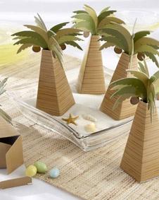 Palm Tree Favor Box. http://www.bluerainbowdesign.com/WeddingFavorProduct.aspx?ProductID=PR020408170009JeNRwSXimenaBRD30063=WEDDI=GROUP=WBEAC=Pinterest