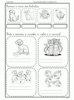 40 atividades de ingl s com frutas e animais portal escola english crafts worksheets. Black Bedroom Furniture Sets. Home Design Ideas