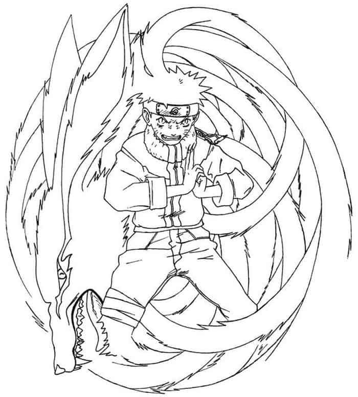 Naruto Nine Tails Coloring Pages In 2020 Chibi Coloring Pages Coloring Pages Stitch Coloring Pages