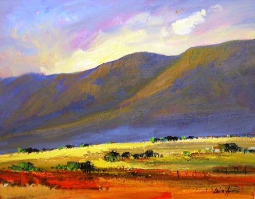 Oil Painting - Karoo Vlei by Louis Audie