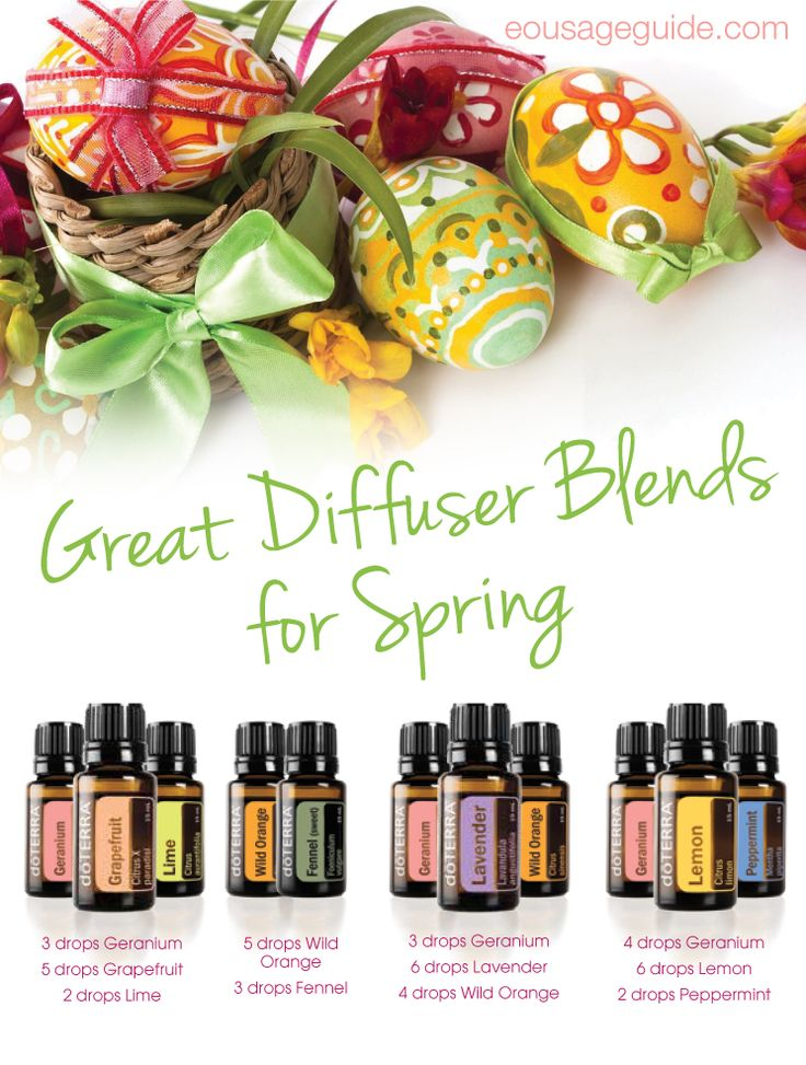Great Diffuser Blends for Spring | Get started using doTERRA essential oils: www.weedemandreap...