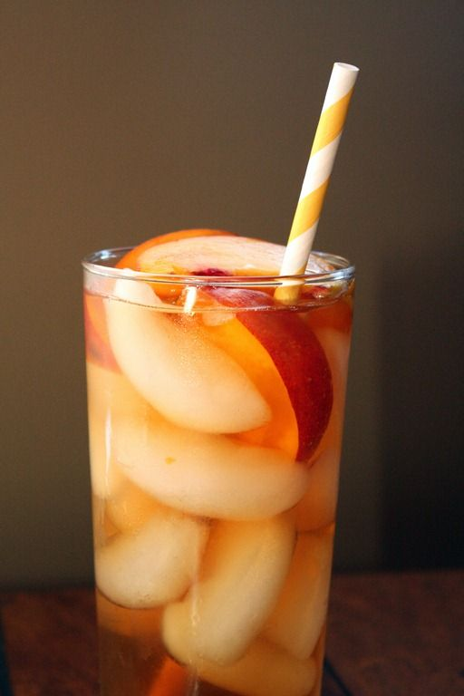 Peach simple syrup recipe to make the best iced tea!