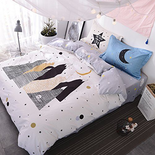 Amazon.com: TheFit Paisley Textile Bedding for Adult U2138 Star Mountain Duvet Cover Set 100% Cotton, Full Set, 4 Pieces: Home & Kitchen