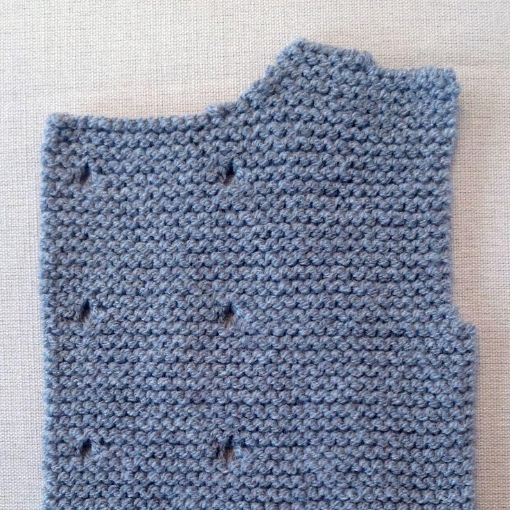 Cómo tricotar el delantero izquierdo de un abrigo de lana para bebé