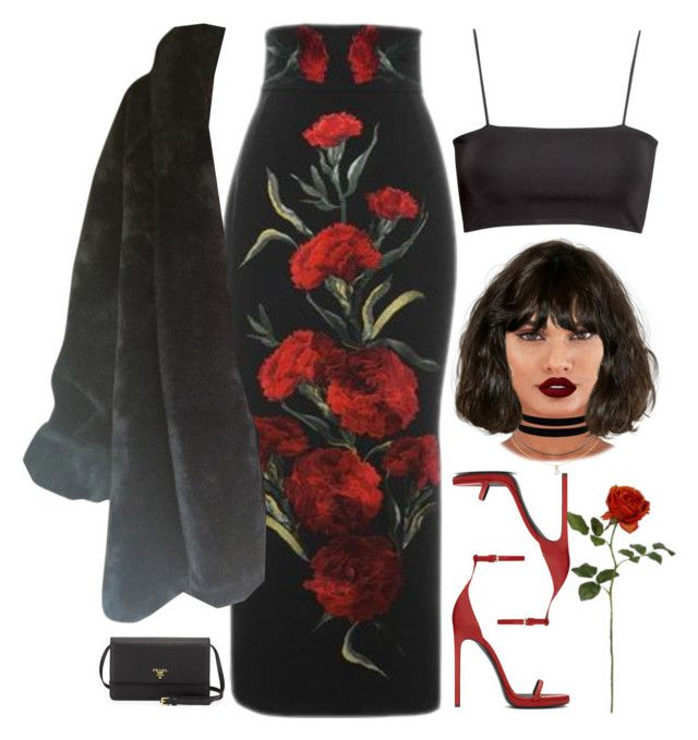"""royal"" by demirese ❤ liked on Polyvore featuring Humble Chic, GUESS, Lime Crime, Dolce&Gabbana, H&M, Yves Saint Laurent and Prada"