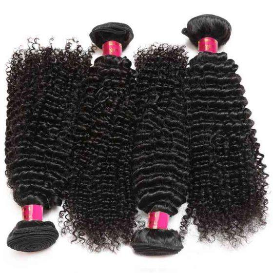 Wholesale Virgin Brazilian Human Hair  10Pcs Kinky Curly Human Hair Extensions