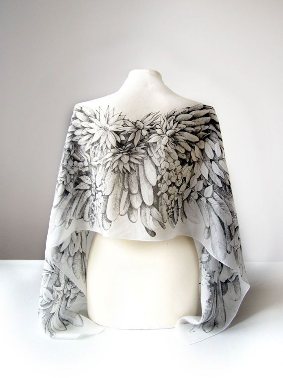 available in black, gray or white Bride Scarf