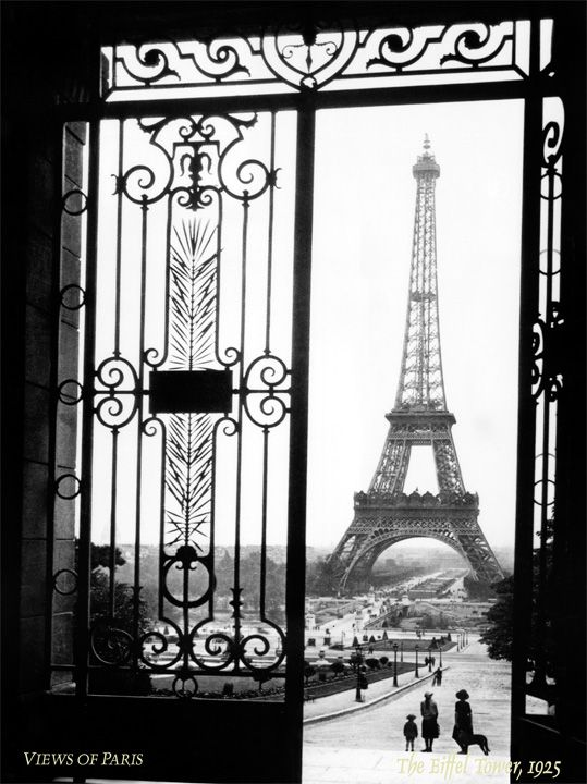 When I was in Paris, the Eiffel Tower was literally right outside my window.