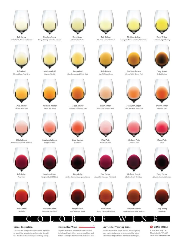 The color of wine chart.    #WineFolly #WineGeek #WinePorn