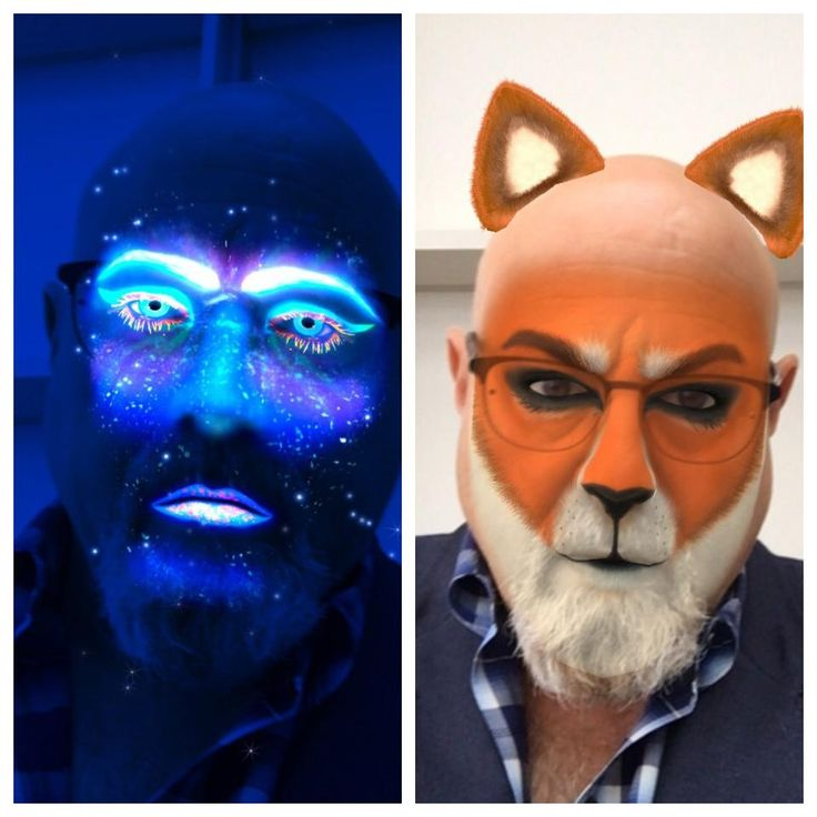 "Pokemon Go and Filters first made popular by Snapchat, both fit the strict definition of Augmented Reality, placing digital images over the real world. These two selfies were done with the free filter app ""Masquerade""."