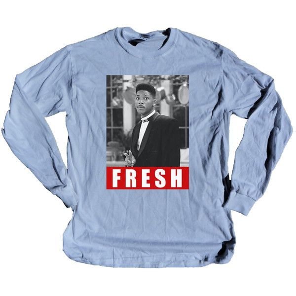WHITE Fresh Prince of Bel-Air Will Smith Dope Vintage 90's long sleeve... ($17) ❤ liked on Polyvore featuring tops, shirts, long sleeve tops, white shirt, white long sleeve shirt, vintage shirts and vintage tops