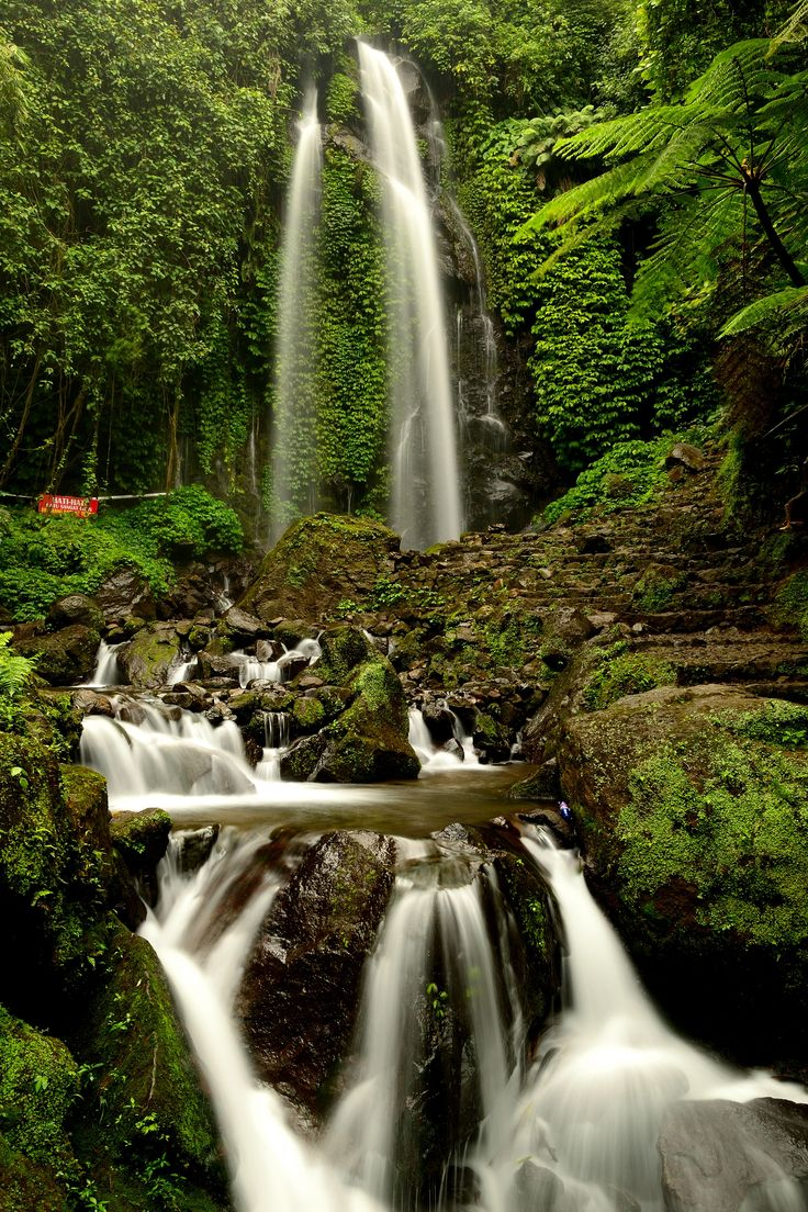 this location is called the hidden paradise. The waterfall names is Jumog. It locates in Karanganyar regency of central Java province