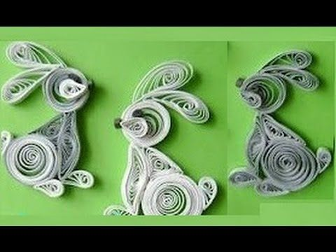 ▶ Quilling Made Easy # How to make quilling rabbit using Paper -Paper Quilling Art - YouTube