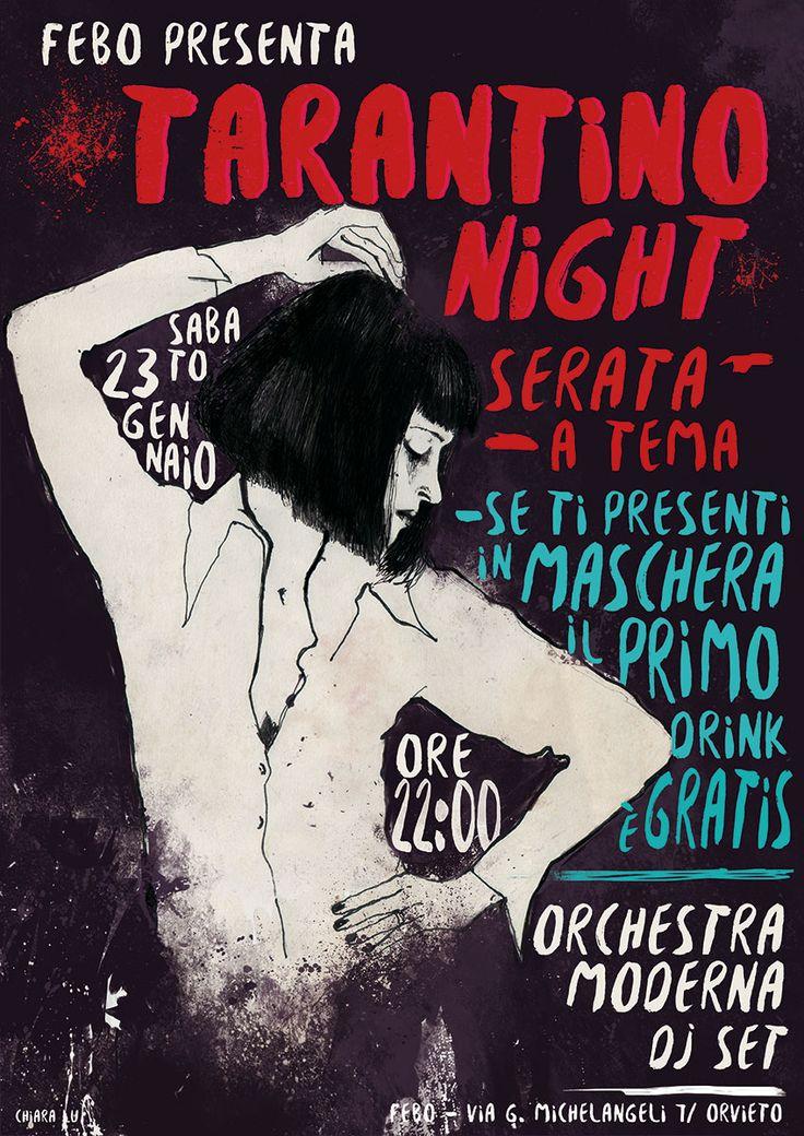 POSTER>FEBO  Pulp Fiction http://chiaraluz.blogspot.it/2016/02/poster-febo.html