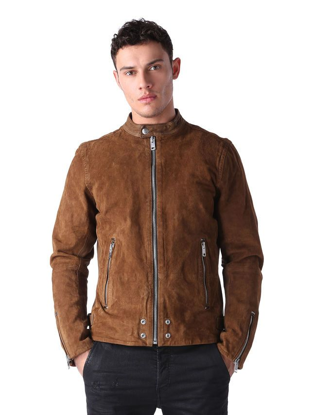 L-EDGEAMER LEATHER JACKETS · Stylish ManLeather FashionWhiteboardCamelLeather  JacketsCodWell DressedMale FashionDiesel