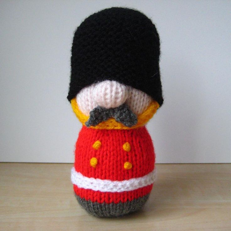 Free Knitting Pattern Toy Soldier : Sergeant Major Busby Knitting pattern by Amanda Berry ...