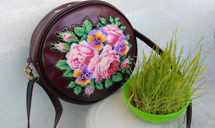 Evening handbag, EMBROIDERED BAG, round bag, Ukrainian embroidery, Suede bag, Top Handle Bags, classical bag, flower bag by Yourembroidereddream on Etsy