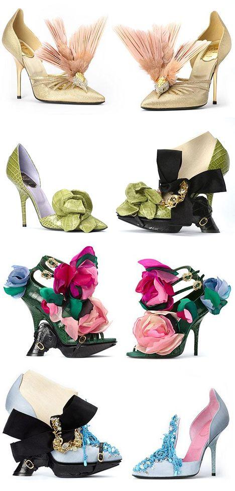 Flower fashion ...Roger Vivier pumps                                                                                                                                                      More