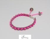 "bracelet Davina rose fluo "" édition spéciale"""
