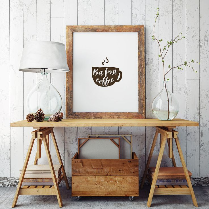 New to HandmadePrintables on Etsy: But first COFFEE. DIY Wall Art Home Decor - Typography Poster (2.49 GBP)