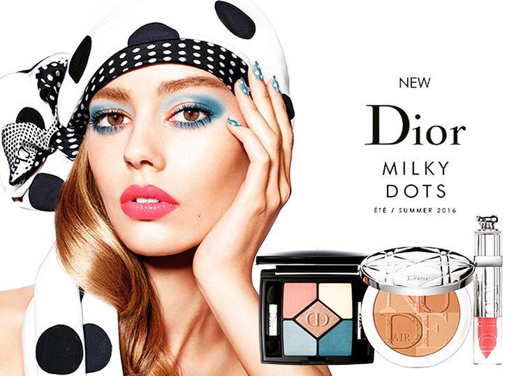 """Letné líčenie DIOR 2016 """"MILKY DOTS""""  Vstúpte s nami do sveta """"Milky Dots"""" a ukážte, že ste ženou, ktorá vie nosiť Dior.    Dozvedieť sa viac:  http://www.institutbratislava.sk/letne-licenie-dior-2016-milky-dots/"""