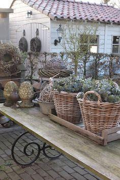 Wunderschön natürlich Deko Weide Garten Terrasse