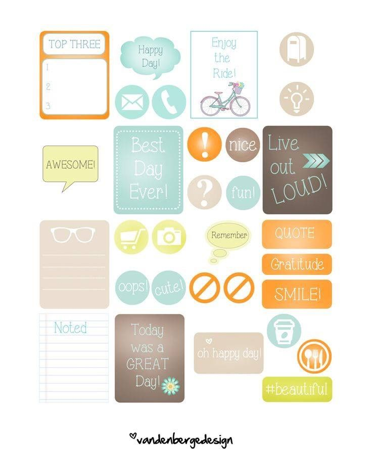Free Stickers Free Printables Planners Free Printable Organizers