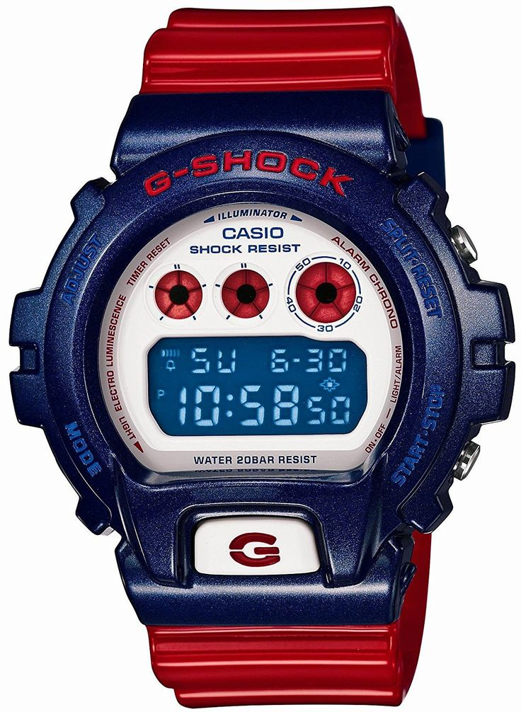 Casio G-SHOCK Blue and Red Series Men Watch DW-6900AC-2JF LIMITED EDITION (Japan Import) * Be sure to check out this awesome product. (This is an Amazon Affiliate link and I receive a commission for the sales)