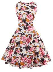 SHARE & Get it FREE | Vintage Sleeveless Chrysanthemum Print Dress For WomenFor Fashion Lovers only:80,000+ Items • New Arrivals Daily • Affordable Casual to Chic for Every Occasion Join Sammydress: Get YOUR $50 NOW!
