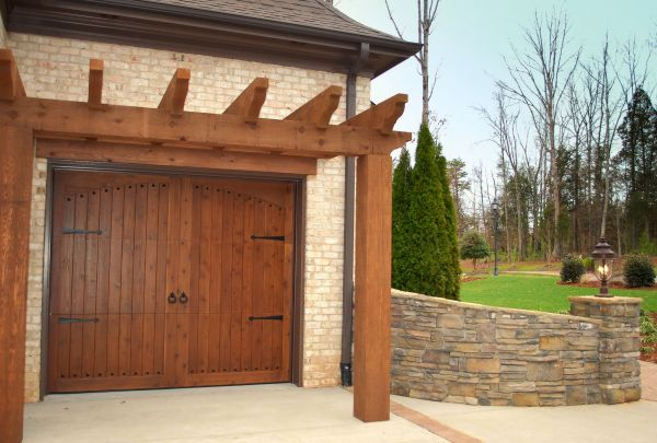 14 best images about traditional wood collection garage for Wooden garage door designs