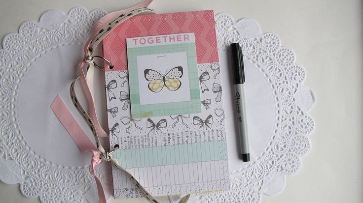 Instax photo album, instax mini album - Together premade scrapbook mini album by BurkeSevenVintage on Etsy https://www.etsy.com/ca/listing/495884587/instax-photo-album-instax-mini-album