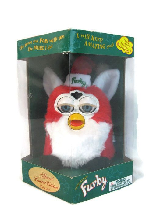 Furby Tiger Electronics 1999 Special Limited Ed Santa Hat ...