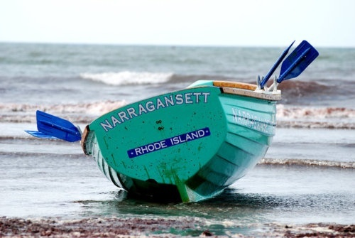 boats/cottage/beach | Aqua blue / Narragansett Row Boat ⚓ Beach Cottage Life