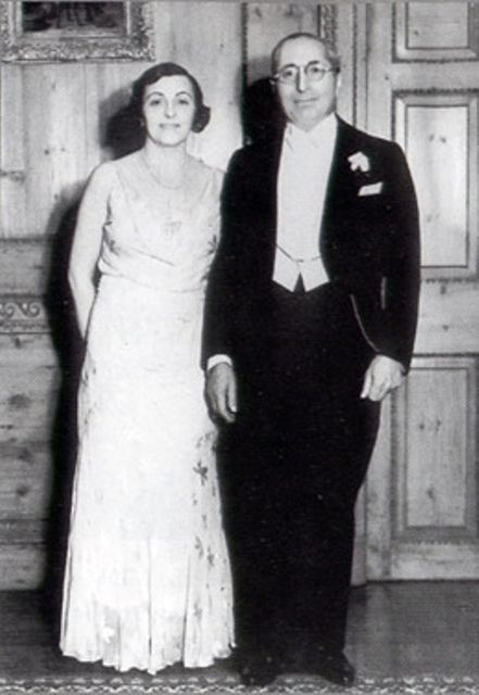 Louis B Mayer and Margaret Shenberg at Heart Party