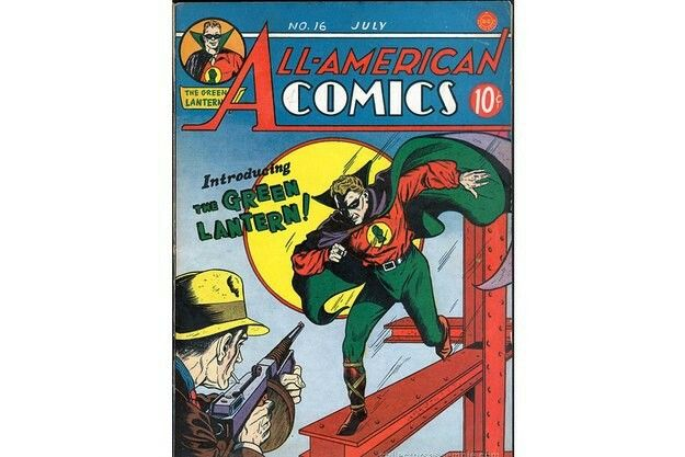 """Green Lantern(även känd som """"Gröna Lyktan"""") dök upp för första gången 1940 i DC Comics serietidningar. Superhjälten, som gestaltats av flera olika seriefigurer, fick sina krafter från just en grön lykta."""