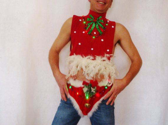 Black Friday Sale Naughty Santa Light Up Ugly Christmas Sweater Dickey Outfit Pants Red Tacky Xmas Sexy Novelty Size S M L Christmas Pinterest